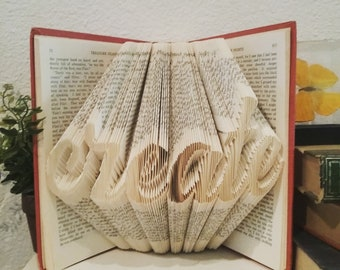 Custom Folded Book Art, Made For You, Personalized