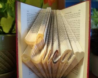 Custom Folded Book Art, Made For You