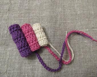 Set of 12 Reusable Tampons Eco friendly Reusable Crocheted Tampons set crochet tampons Eco Friendly organic Washable Reusable Tampons set