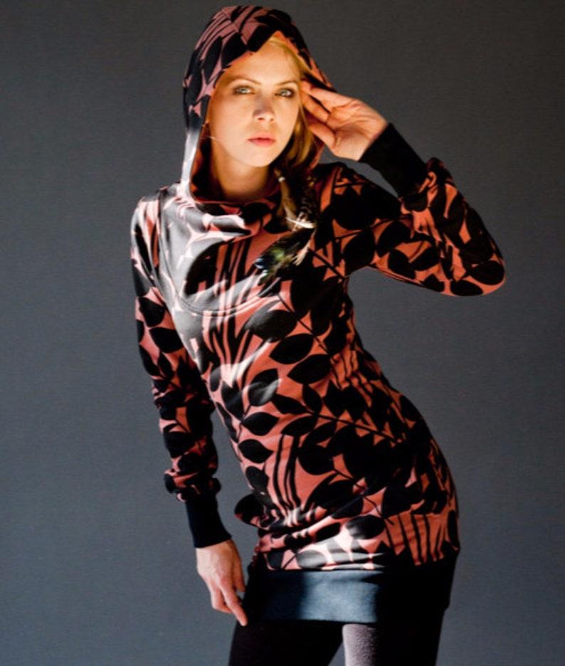 Copper dress-Black night forest image 0