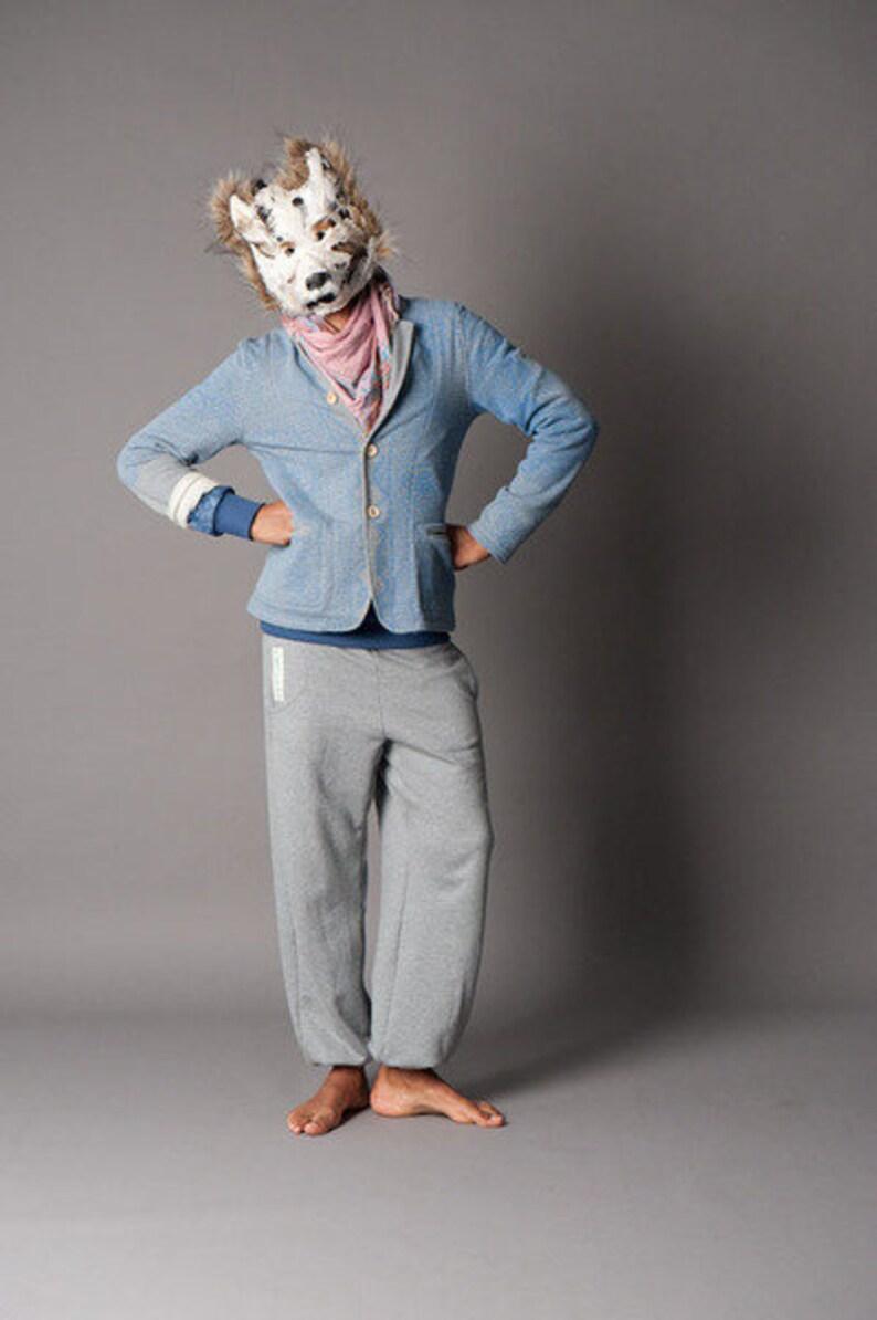 Grey melange Pants image 0