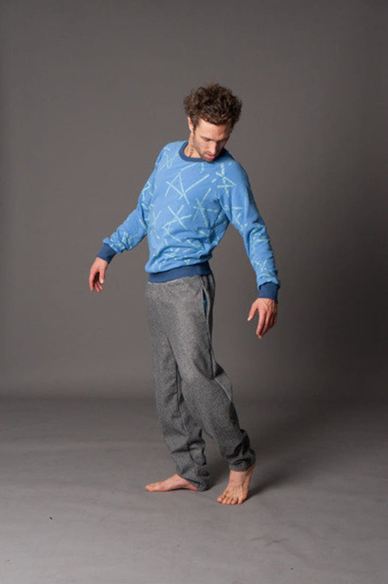Grey Melange Wool Pants georg image 0