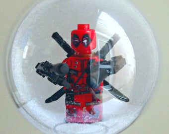 1 Handmade Christmas Tree Bauble Decorations Minifigure Mini Figure Deadpool