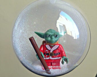 1 Christmas Tree Bauble Decorations Minifigure Mini Figure Star Wars Lego compatible Yoda Santa