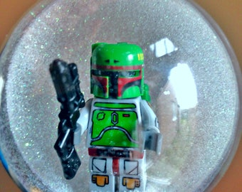 1 Handmade Christmas Tree Bauble Decoration Minifigure Mini Figure Boba Fett