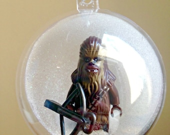 1 Handmade Christmas Tree Bauble Decorations Minifigure Mini Figure Star Wars Chewbacca