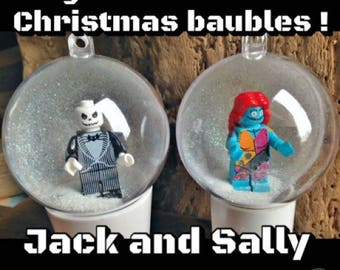 2 Nightmare Before Christmas Baubles Decorations Minifigure Mini Figure Lego compatible