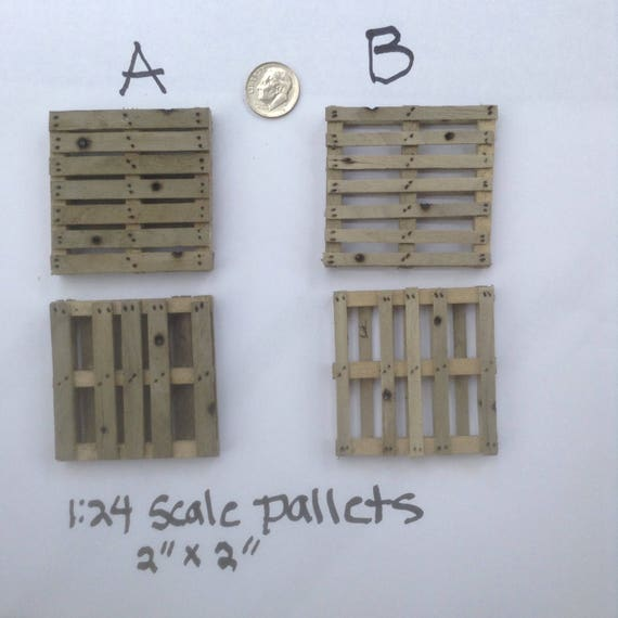 "1:10 or 1:12 Scale Miniature Pallet 3/"" x 4/"" Handmade Dollhouse 6/"" Action Figure"