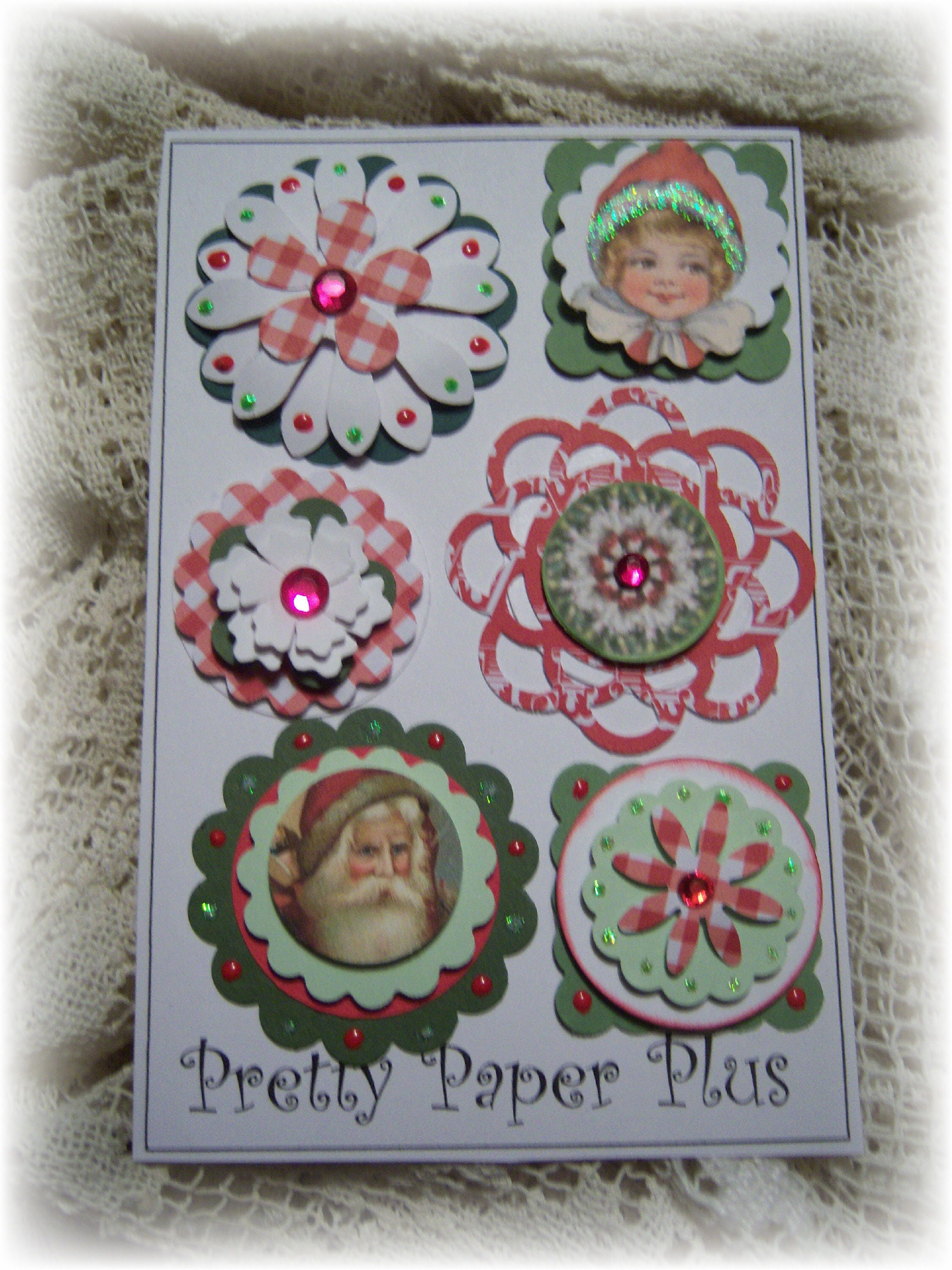 Holiday Layered Card Stock Embellishments For Etsy