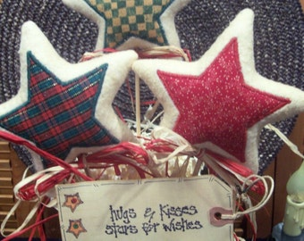 Primitive Whimsical Country CHRISTMAS STAR Wands Plant Pokes Crock Fillers Ornies