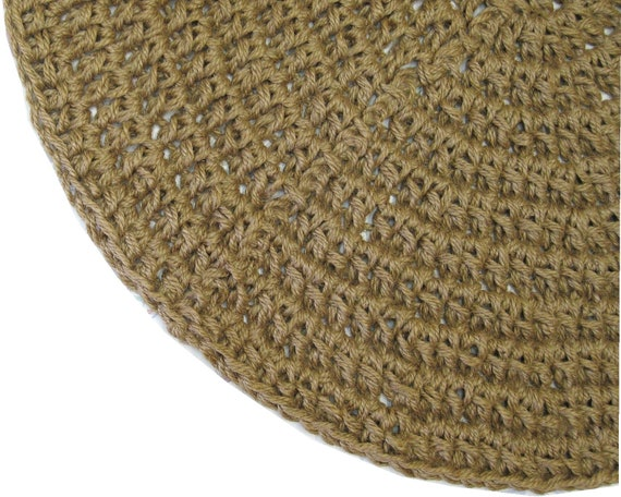Custom Round Thick Jute Rug Made To Order Rug Natural Etsy