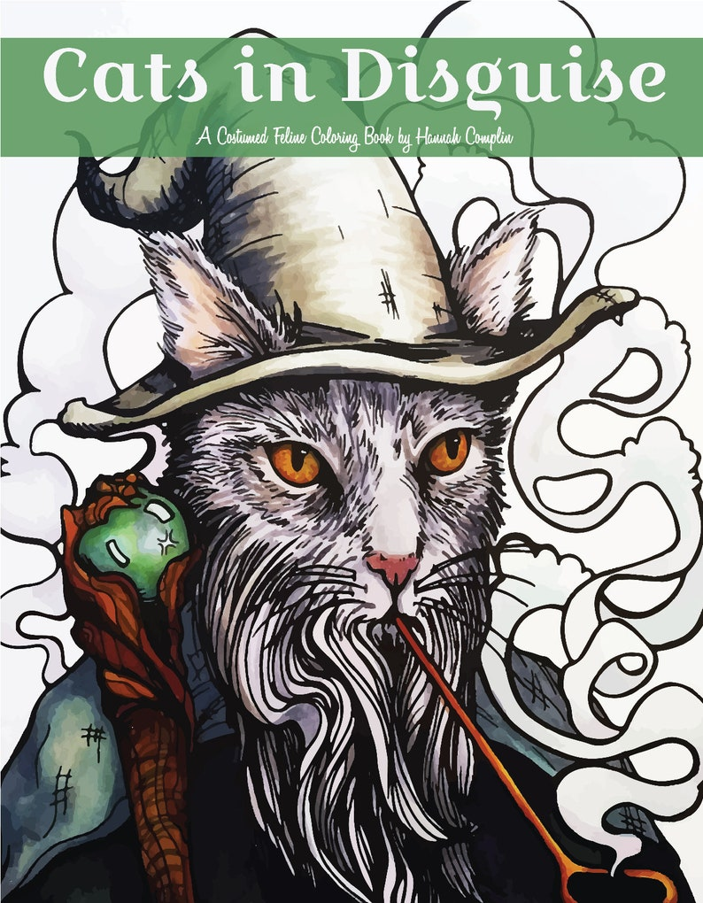 Cats In Disguise New Coloring Book By Hannah Complin 20 Pg Etsy