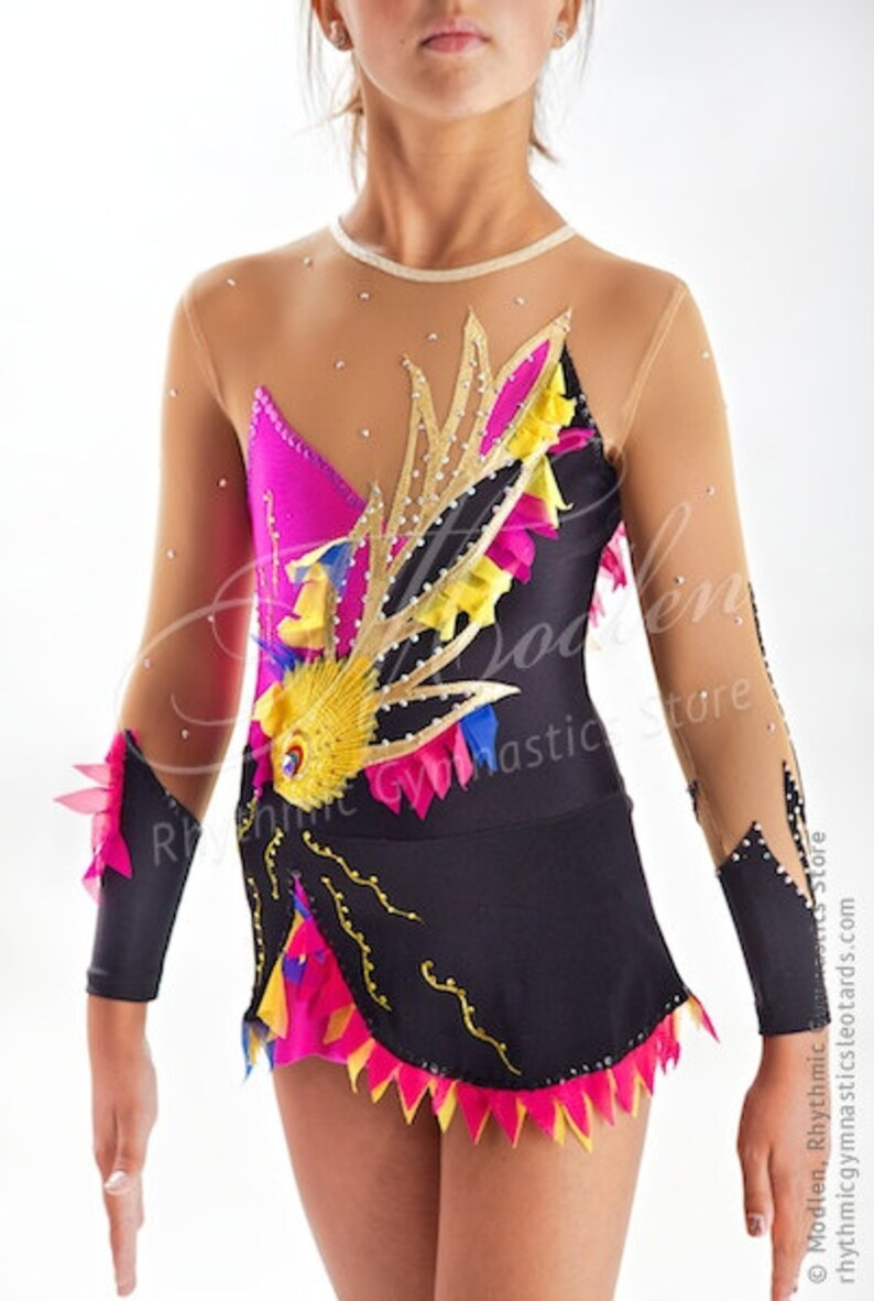 6faa6cc18435 Rhythmic Gymnastics Leotard 155 for Competition Order as
