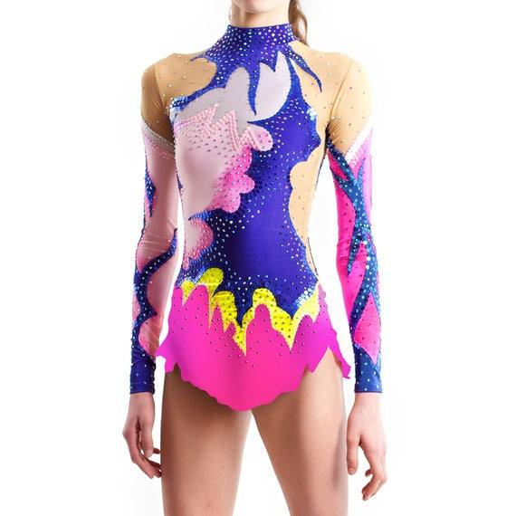 Order as Ice Figure Skating Dress Acrobatic Gymnastics Costume or Baton Twirling Leotard Rhythmic Gymnastics Leotard #34 for Competition