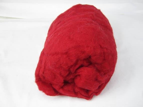 1 LB Carded Core Wool needle felting spinning wet felting stuffing Walking Palm