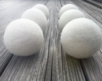 Wool Dryer Balls 6 XL – Natural Eco Friendly with no chemicals - XL - Organic & Baby Safe by Walking Palm