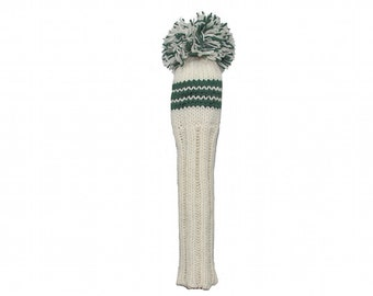 White and Green Fairway Golf Headcover