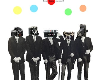 Leica Man // A4 Digital Collage