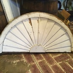 Architectural Salvage white chippy paint old bldg Fan Shape for Mantel or Decor