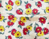 Vintage Feedsack Material 1930s-50s open authentic vintage Floral 36x44