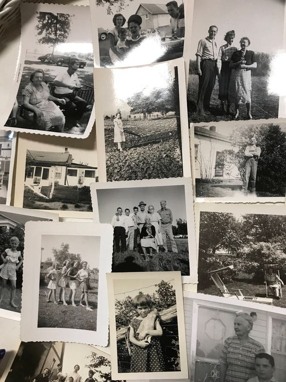 Vintage Black and White Photos for Collage Summer Outdoor Family fun
