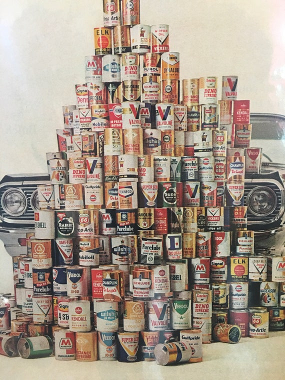 1964 Original Advertising AC Filter - Vintage OIL Cans Ad