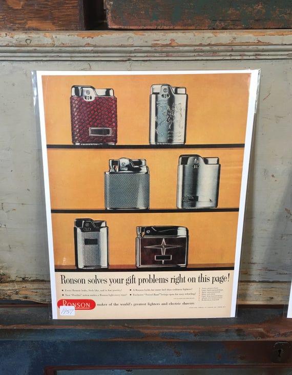 1957 Original Advertising Ronson Lighters Ad