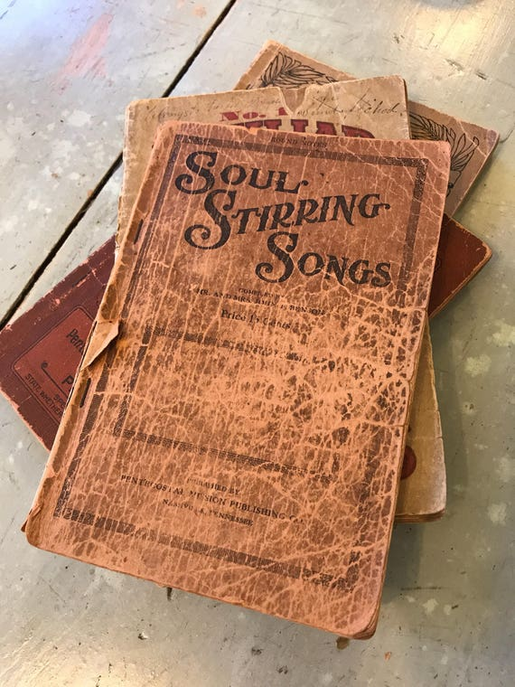 4 Paperback Hymnals w great Covers & old Songs