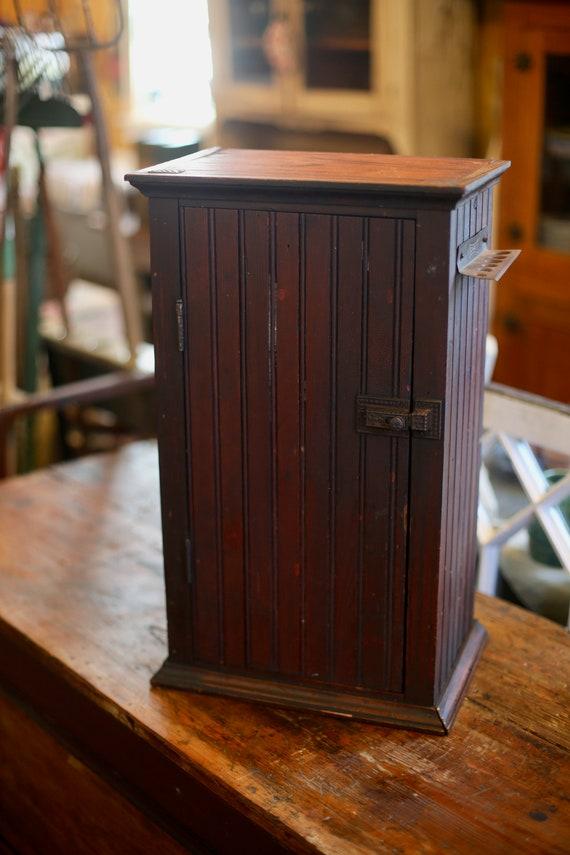 Hanging Beadboard Cupboard Farmhouse mini cabinet Fixer Upper 1900s