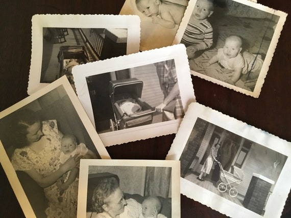 Black and White Photos for Collage Baby Comes Home