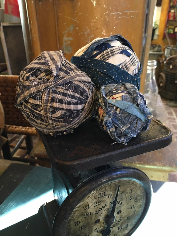 Antique Late 1800s Rag Balls