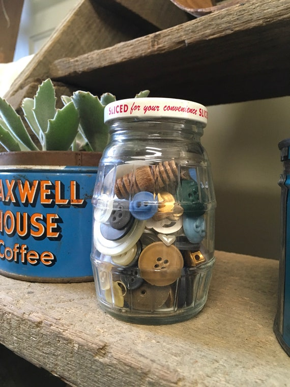 Vintage Jar of Antique Buttons