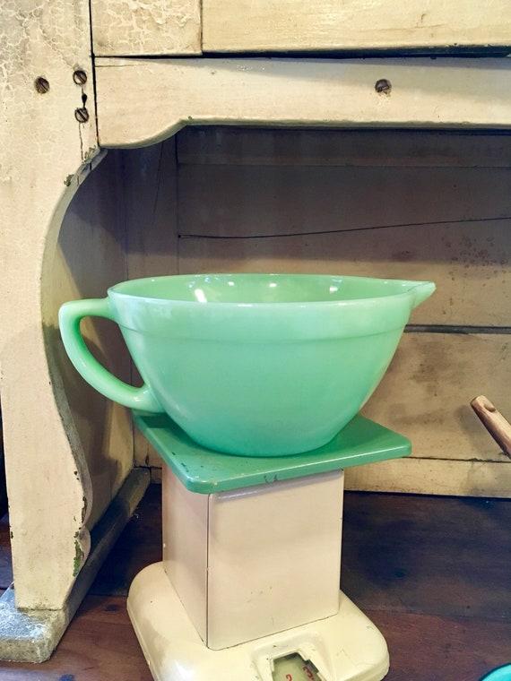 Vintage Fire-King Jadeite Batter Bowl