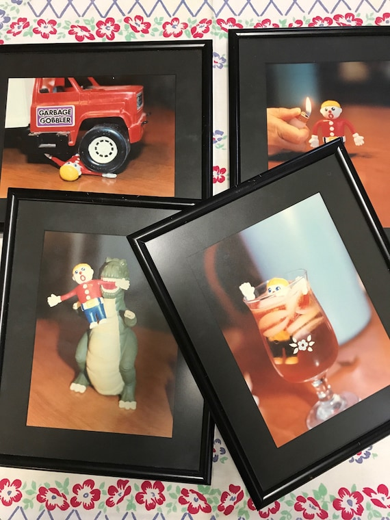 Framed Photo Art - Mr Bill Saturday Night Live Claymation Character Oh No!