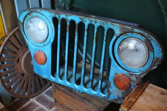 1968 Blue Jeep Grill