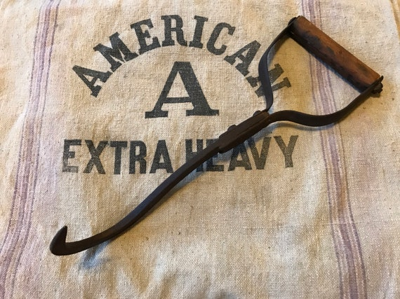 Primitive Hay Hook w wood handle