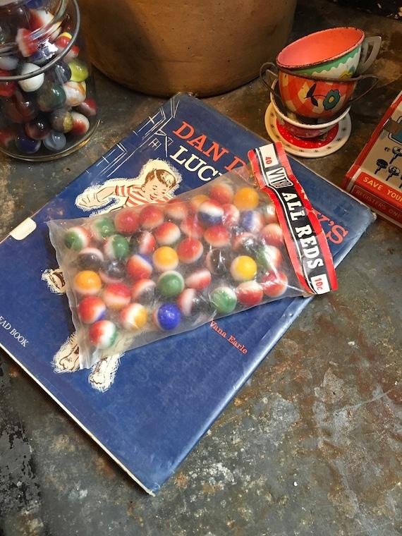 Vintage Original Bag of Marbles Vitro All Reds