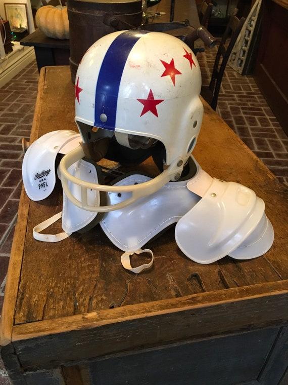 Vintage Rawlings Junior Football Helmet and Shoulder Pads