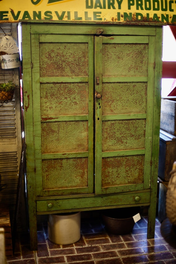 Pie Safe Original Apple Green Paint from Midwest Farm