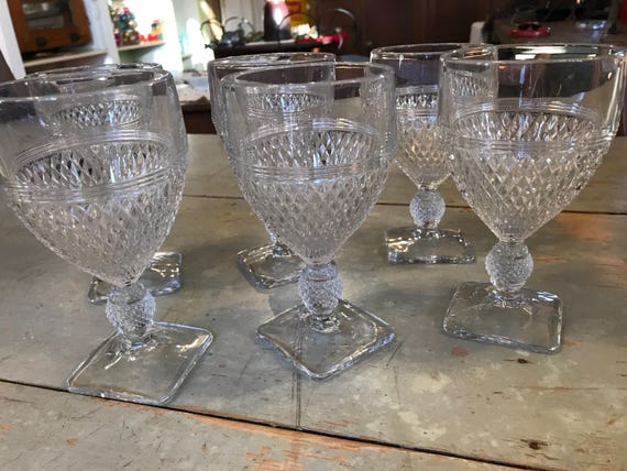 Sawtooth Wine or Water Glasses for your Bar or Table Set of 6