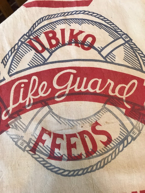 Vintage Feedsack - Ubiko Life Guard Feeds Hog Supplement 100lb