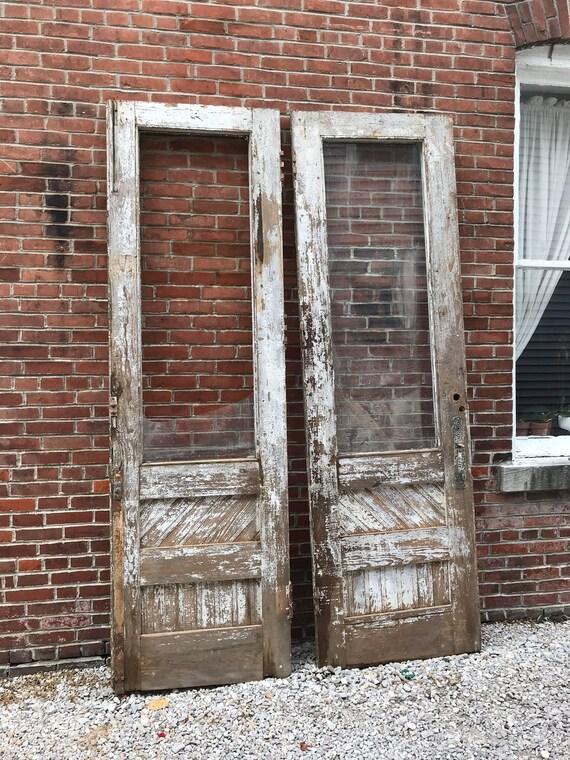 Exterior store front double doors early 1900s w/ screen doors
