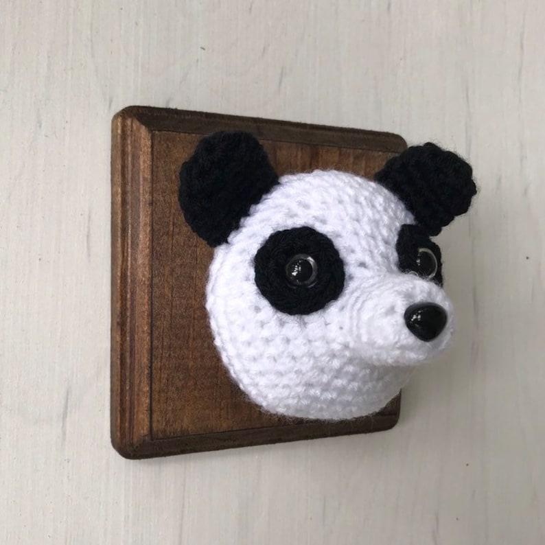 Mini faux Panda head