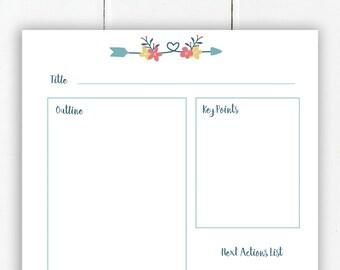 Blog Post Planner | Printable Happy Planner Inserts | Printable Blog Planner | Blog Printable | Work at Home