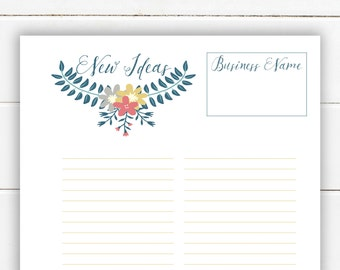 Instant Download: New Ideas Happy Planner Printable