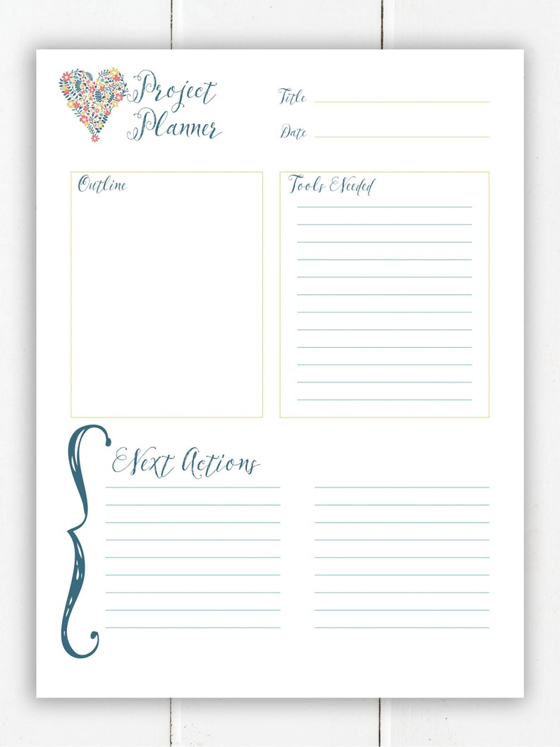 Project Planner Printable  Happy Planner Inserts  Printable image 0