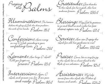Psalms Inspirational Words White Cotton Fabric