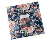 MACKINAC ISLAND Moda Layer Cake fabric 42 10 inch squares 14890LC Polly Minick Laurie Simpson red cream blue floral stars