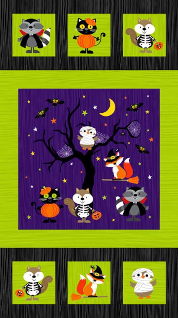 1 panel of Happy Halloween by Northcott Fabrics