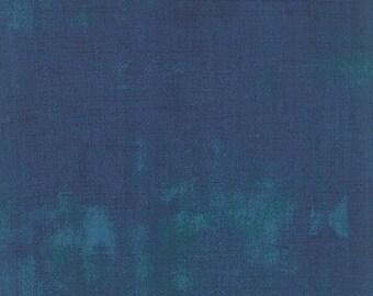 20% off thru 7/10 GRUNGE BASICS-by half yard by Moda & Basicgrey Prussian teal blue texture blender  30150-353